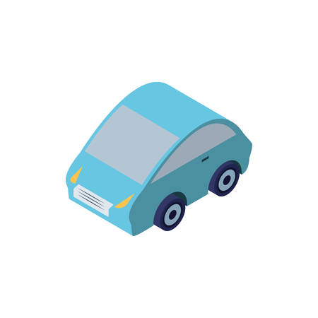 sedan car on white background vector illustration design