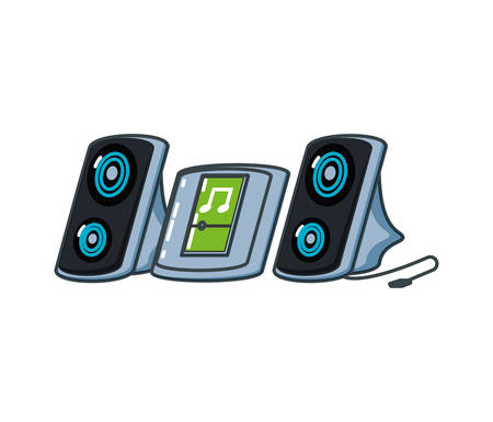 music player with speakers devices vector illustration design Ilustrace