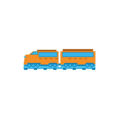 Train design, Transportation vehicle transport wheel speed traffic road and travel theme Vector illustration  イラスト・ベクター素材