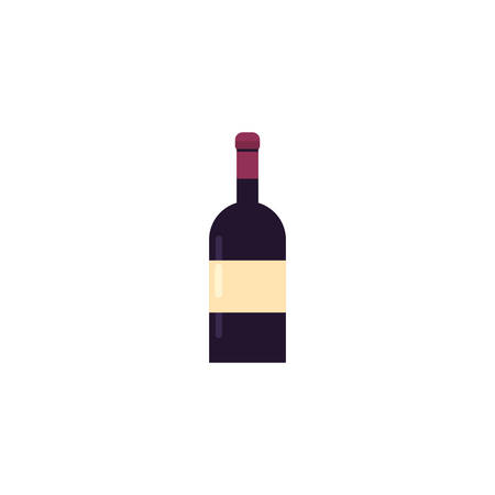 Wine bottle design of Winery alcohol drink beverage restaurant celebration and party theme Vector illustration