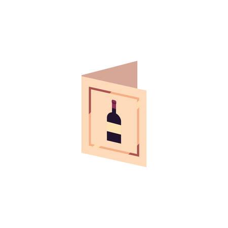 Wine menu design of Winery alcohol drink beverage restaurant celebration and party theme Vector illustration Ilustracja