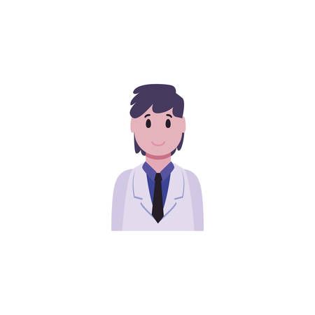 Man doctor design of Medical care health hospital emergency aid exam clinic and patient theme Vector illustration