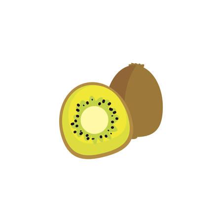 kiwi design, Fruit healthy organic food sweet and nature theme Vector illustration