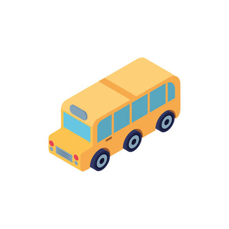 school bus color yellow on white background vector illustration design Stock Illustratie