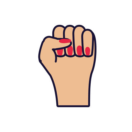 hand fist isolated icon vector illustration design Banque d'images - 137804223