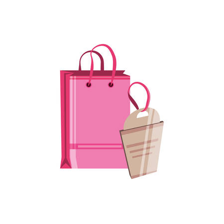 shopping bag with tag commercial vector illustration design Banque d'images - 137804267