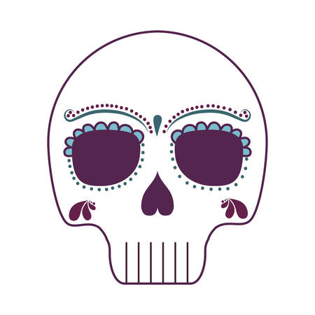 skull death icon traditional mexican vector illustration design Фото со стока - 137965756