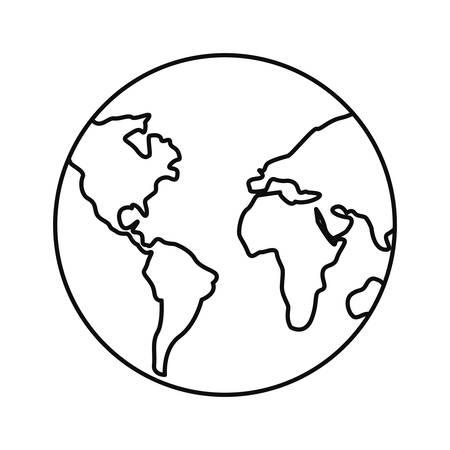 world planet map icon vetor illustration design Ilustracja