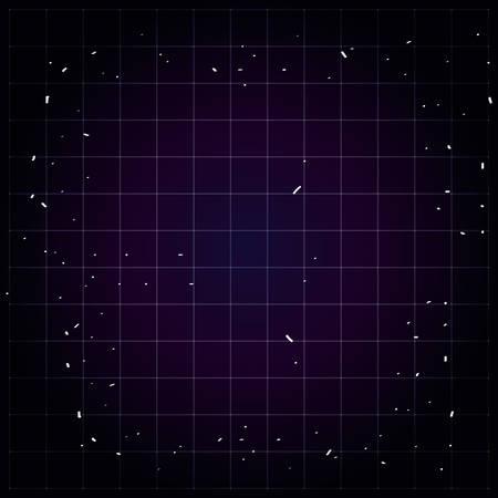 night sky with lights icons vector illustration design Çizim