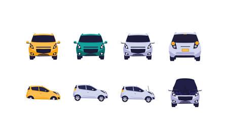 Cars set design, Automobile auto transportation vehicle transport wheel automotive and speed theme Vector illustration Zdjęcie Seryjne - 137957342