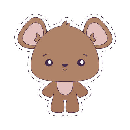 bear cartoon design, Kawaii expression cute character funny and emoticon theme Vector illustration