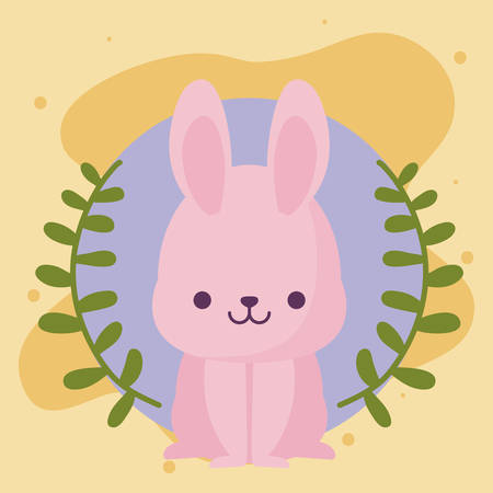 rabbit cartoon design, Kawaii expression cute character funny and emoticon theme Vector illustration