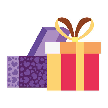gift boxes surprise on white background vector illustration