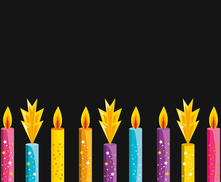 set of birthday candles isolated icon vector illustration design