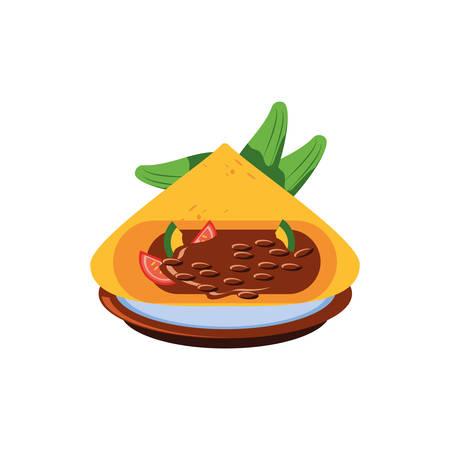 delicious taco, typical Mexican food vector illustration design