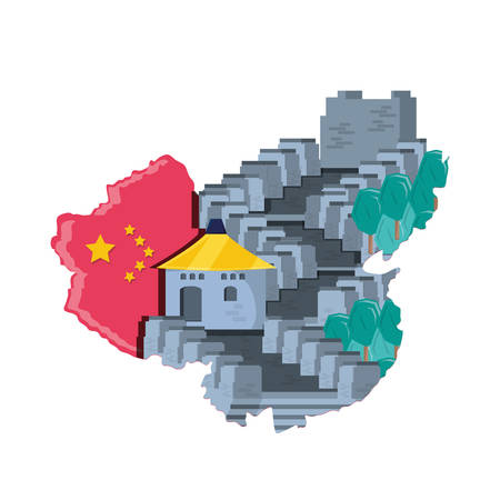 chinese wall isolated icon vector illustration design Ilustrace