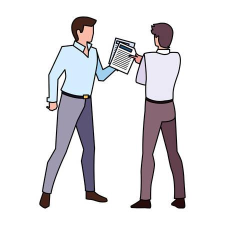 businessmen with standing on white background vector illustration design