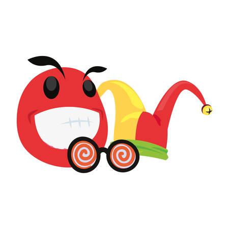 emoji face april fools day vector illustration Foto de archivo - 138047580