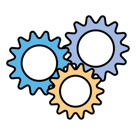 gearwheel tool in white background vector illustration design