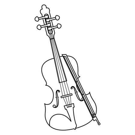 fiddle instrument musical icon vector illustration design