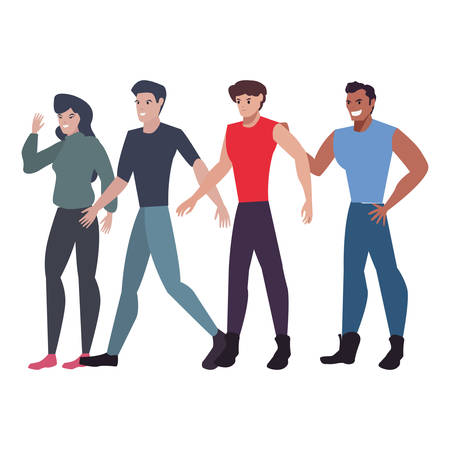 group people characters team work vector illustration Archivio Fotografico - 138197365