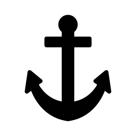 Anchor icon design, Sea nautical marine ocean sea ship iron metal and vintage theme Vector illustration
