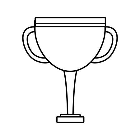 trophy in white background vector illustration design Ilustrace