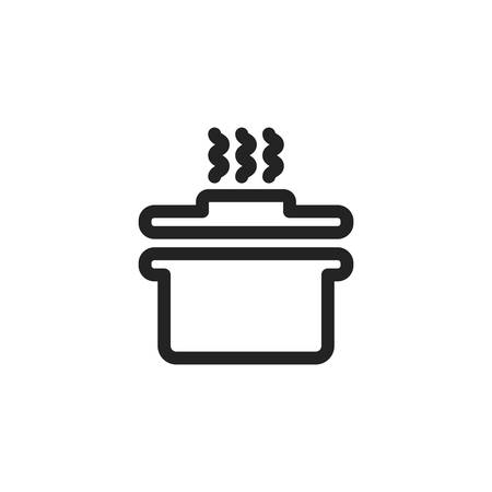 pot design, Kitchen supply domestic household tool cooking and restaurant theme Vector illustration