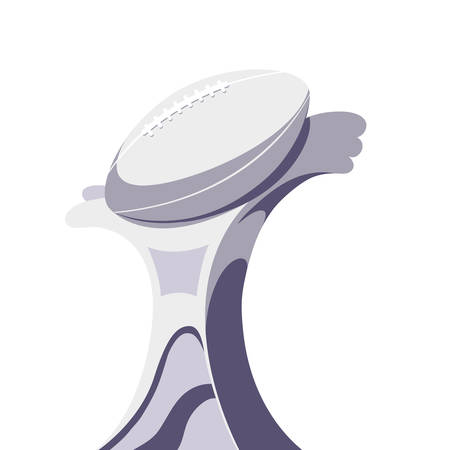 american football award on white background vector illustration design Ilustrace