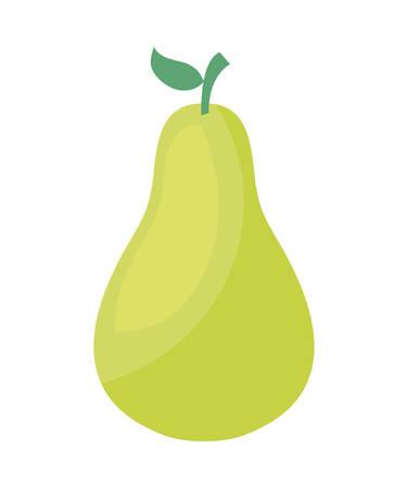 fresh pear fruit isolated icon vector illustration design