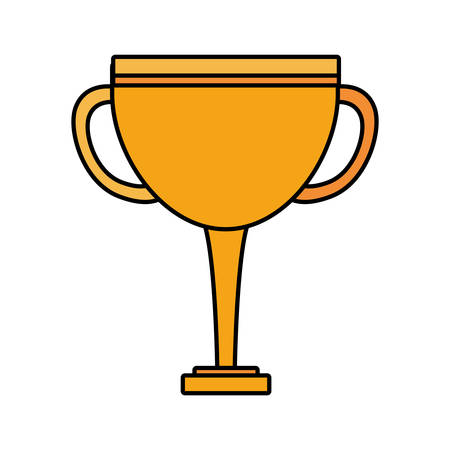 trophy gold in white background vector illustration design Ilustrace