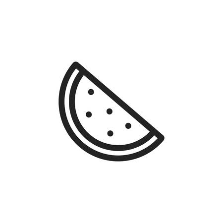 watermelon icon design, Fruit healthy organic food sweet and nature theme Vector illustration