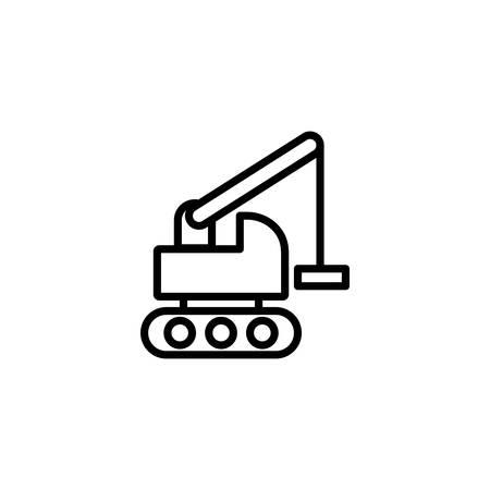 crane truck design, Construction work repair reconstruction industry build and project theme Vector illustration Ilustração