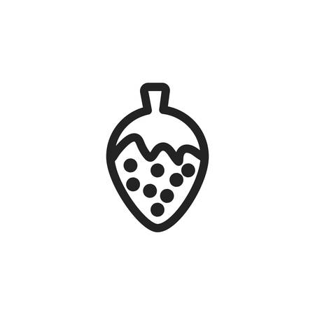 strawberry icon design, Fruit healthy organic food sweet and nature theme Vector illustration