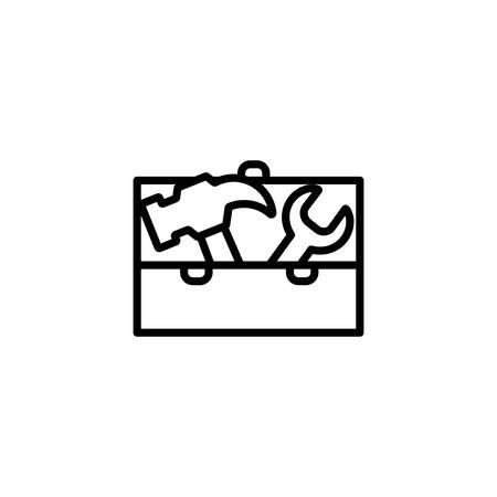 box design, Construction work repair reconstruction industry build and project theme Vector illustration Ilustração