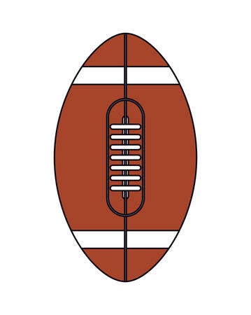 Ball design, American football super bowl sport hobby competition game training equipment tournement and play theme Vector illustration Ilustrace