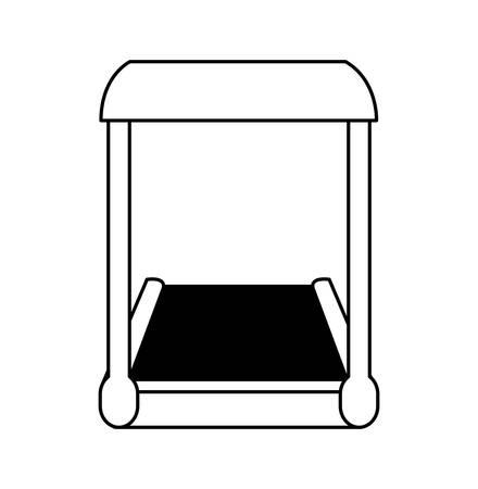 electric treadmill tape icon vector illustration design