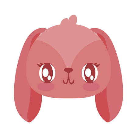 Cute rabbit cartoon design, Animal zoo life nature character childhood and adorable theme Vector illustration Ilustração