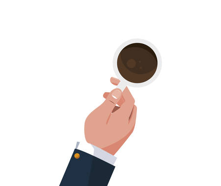 hand with coffee cup vector illustration design Ilustrace