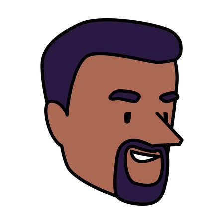 Man head design, Boy male person people human social media and portrait theme Vector illustration