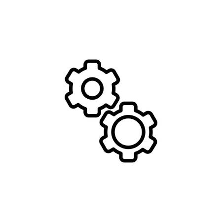 gears design, Construction work repair reconstruction industry build and project theme Vector illustration