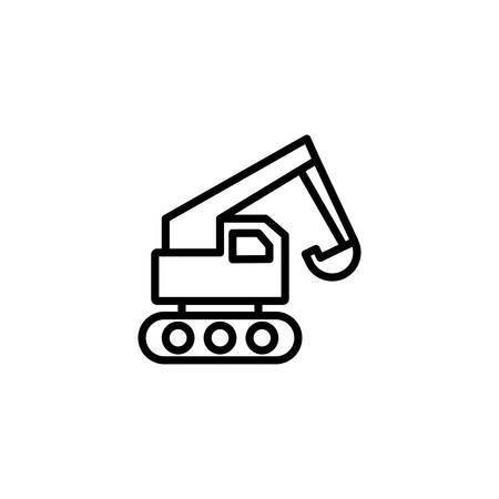 wheel loader design, Construction work repair reconstruction industry build and project theme Vector illustration