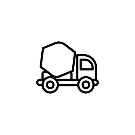 concrete mixer truck design, Construction work repair reconstruction industry build and project theme Vector illustration