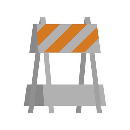 Barrier design of Construction working maintenance workshop repairing progress labor and industrial theme Vector illustration