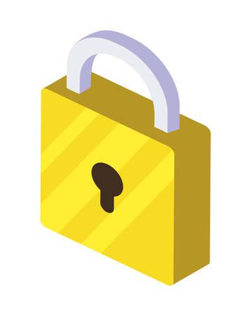 safe secure padlock icon vector illustration design