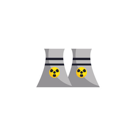factory biohazard chimneys design, Industry plant building industrial construction job work technology and manufacturing theme Vector illustration