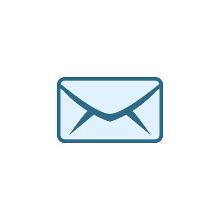 Envelope icon design, Email mail message letter marketing communication card and document theme Vector illustration Illusztráció