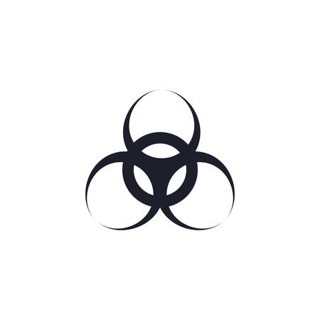 factory biohazard icon design, Industry plant building industrial construction job work technology and manufacturing theme Vector illustration Illustration