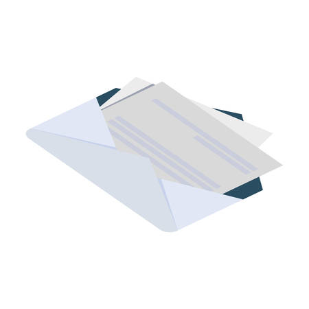 envelope mail isolated icon vector illustration design Illusztráció