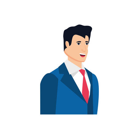 businessman elegant avatar character vector illustration design 矢量图像